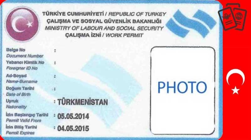 اقامة العمل في تركيا